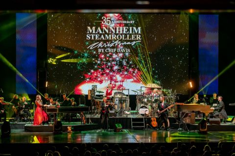 Do you remember the first time you heard the Christmas sounds of Mannheim Steamroller?  You can again celebrate the holiday magic of Mannheim Steamroller in 2021 when they bring their annual holiday tour to fans throughout the country. While 2020 was the first year the group was unable to tour in 35 years, 2021 will reunite the #1 Christmas music artist in history with its legion of long-time fans. Experience the music that has become the hallmark of the holidays and a tradition for multi-generational families:  Mannheim Steamroller Christmas live in concert in 2021! (Graphic: Business Wire)