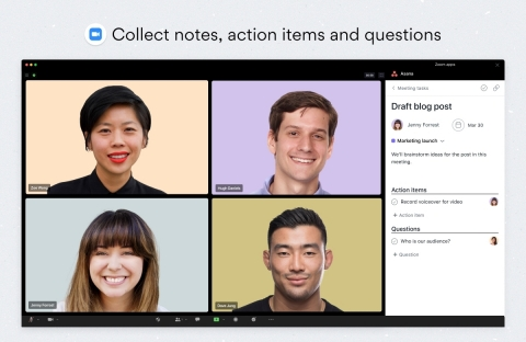 Action items are captured in real-time and added to the meeting task, along with the meeting recording, increasing transparency and accountability. (Graphic: Business Wire)