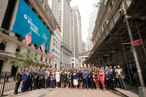 UWM Holding Corporation commemorates National Mortgage Brokers Day with brokers at the New York Stock Exchange (Photo: Business Wire)
