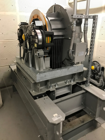 ELEMOTION™ offers a number of individual equipment updates, including updates for Elevator hoist machines, pictured. (Photo: Business Wire)