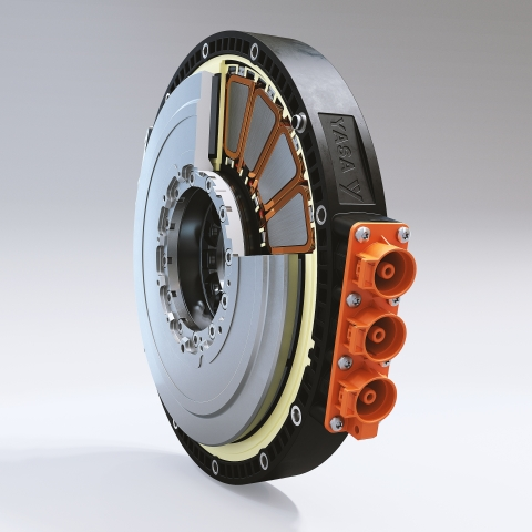 YASA's axial-flux electric motor - a step-change from legacy radial motors, giving end customers greater range and unsurpassed driving experiences. (Photo: Business Wire)