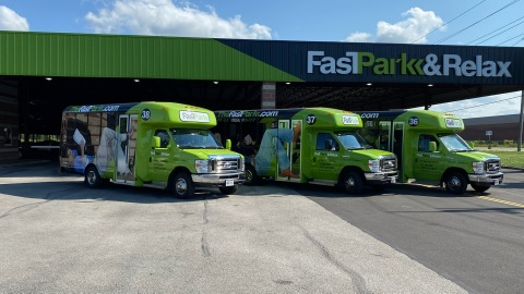 Fast Park Completes Brand Refresh of Final Airport Fast Park Facility (Photo: Business Wire)