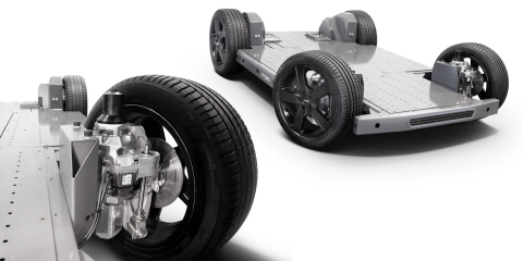 REE's REEcorner™ technology and fully-flat and modular EV platform (Photo: Business Wire)