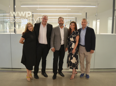 WWP Beauty's Executive team at its LA location grand opening. Pictured from left to right: Musa Dias, CMO; Josh Kirschbaum, CEO; Robert Tognetti, COO; Jennifer Adams, CFO; James Farley, EVP, North America. (Photo: Business Wire)