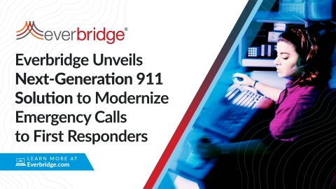 Everbridge Unveils Next-Generation 911 Solution to Modernize Emergency Calls to First Responders (Graphic: Business Wire)