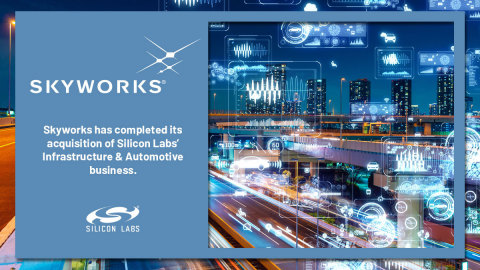 Skyworks has completed its acquisition of the Infrastructure & Automotive business of Silicon Labs. (Graphic: Business Wire)