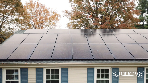 Sunnova rooftop solar system on a home in Connecticut (Photo: Business Wire)