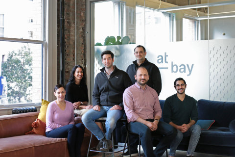 At-Bay Executive Leadership Team from left to right: Ayelet Kutner, Tara Bodden, Rotem Iram, Brett Sadoff, Roman Itskovich, Joseph Schiro. (Photo: Business Wire)
