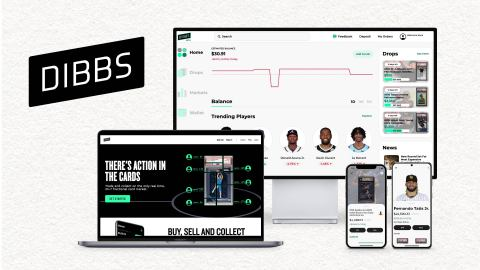 Dibbs, the only real-time fractional sports card marketplace, today announced its $13 million Series A financing round led by Foundry Group. Tusk Venture Partners, Courtside Ventures, and Founder Collective also participated in the round, as did a syndicate of superstar athletes, including Chris Paul, Channing Frye, DeAndre Hopkins, Kevin Love, Kris Bryant, and Skylar Diggins-Smith. (Graphic: Business Wire)
