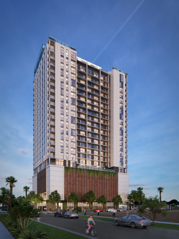 Skye on 6th, a new a 26-story multifamily building located within an opportunity zone in Phoenix. (Photo: Business Wire)