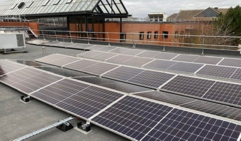 United Kingdom's Ministry of Justice partners with cleantech integrator, Ameresco, to install rooftop solar PV that will provide annual energy savings equivalent to a carbon savings of 106.2 tonnes. (Photo: Business Wire)
