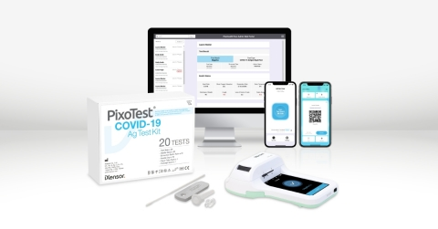 PixoHealth Pass Admin Solution empowers sustainable, safe reopening together with PixoTest POCT COVID-19 Antigen Test. (Photo: Business Wire)