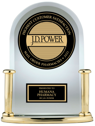 Humana Ranks #1 for Customer Satisfaction for Mail Order for Four Consecutive Years in J.D. Power U.S. Pharmacy Study (Photo: Business Wire)