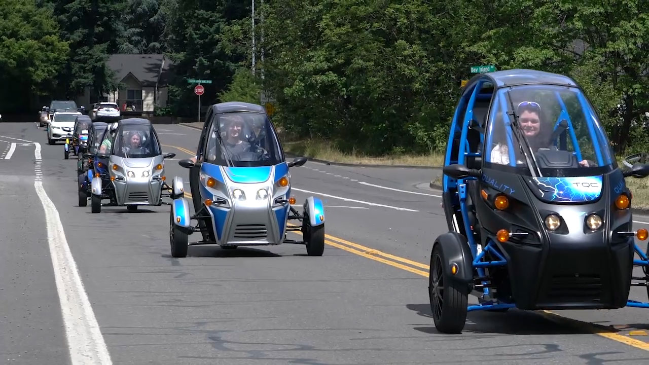 We're Arcimoto, and we build rides... for a reason. Light, electric, ultra-efficient rides that are incredibly fun to drive. We're a public company (NASDAQ: FUV) with a public mission: to develop affordable, rightsized EVs to help the world shift to a sustainable transportation system. Every Arcimoto is built at the AMP in Eugene, Oregon.
