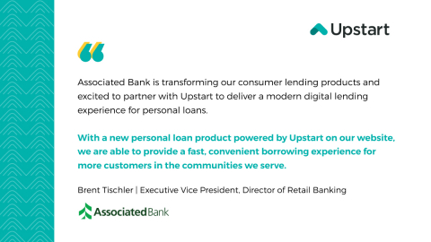 Quote from Brent Tischler, Executive Vice President, Director of Retail Banking at Associated Bank (Graphic: Business Wire)