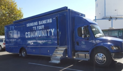 Fifth Third Bank's Financial Empowerment Mobile, eBus, is returning to the road to deliver financial access and capability services to the communities it serves. (Photo: Business Wire)