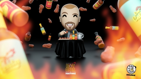 Fans can find the Youtooz x Hot Ones limited edition figure available for pre-order on July 29th. (Graphic: Youtooz)