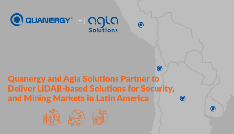 Quanergy and Agia Solutions Partner to Deliver LiDAR-based Solutions for Security, and Mining markets in Latin America (Graphic: Business Wire)