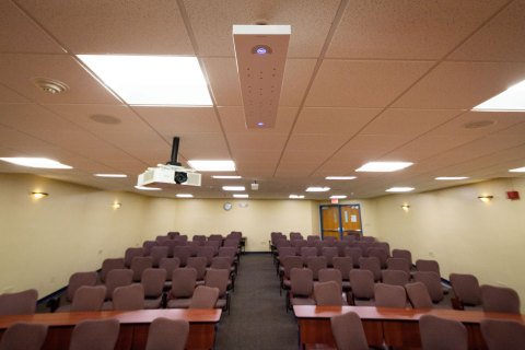 This system met student/teacher requirements by providing high-quality program audio and speech reinforcement, and audio for all video conferencing applications used by the school. (Photo: Business Wire)
