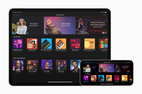 GarageBand now includes an expanded Sound Library with Sound Packs from some of today's top artists and music producers. (Graphic: Business Wire)
