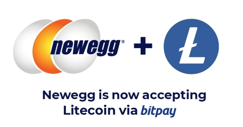 Customers shopping on Newegg.com will have the option of paying with Litecoin using the BitPay Wallet app (Graphic: Business Wire)