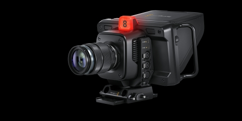 Blackmagic Design's new family of Blackmagic Studio Cameras for live production includes this Blackmagic Studio Camera 4K Pro. (Photo: Business Wire)