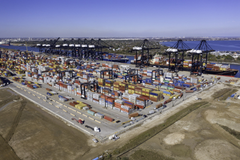 Port Houston's Bayport Container Terminal is busy at work. (Photo: Business Wire)