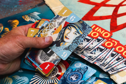 Mattel Creations Brings Shepard Fairey's Sought-After Street Art to Homes Through the UNO® Artiste Series (Photo: Business Wire)