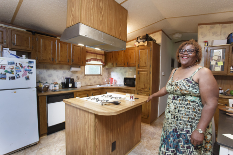 A homeowner received a $5,418 Special Needs Assistance subsidy from Citizens Bank and FHLB Dallas to make repairs to her Carthage, Arkansas, home. (Photo: Business Wire)