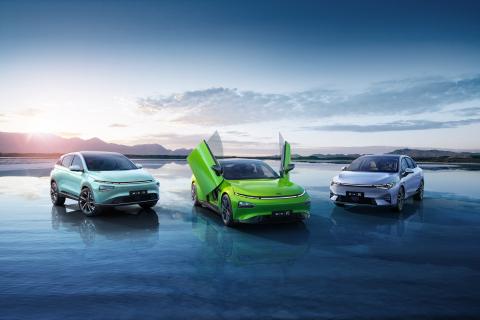 XPeng fleet (Photo: Business Wire)