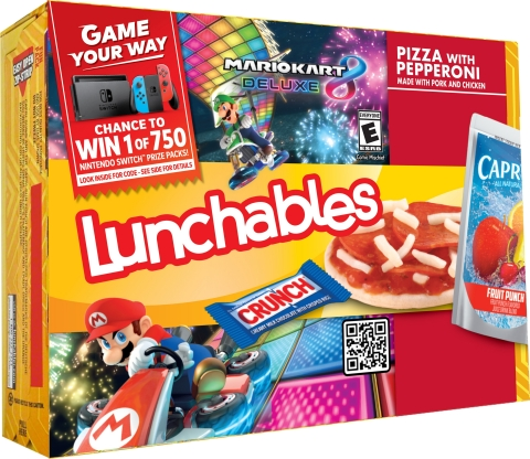 Build, stack and play exclusive Lunchables challenges for a chance to win a Nintendo Themed Mystery Prize Pack. (Photo: Business Wire)