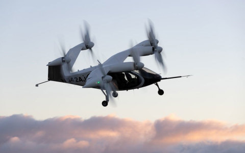Joby aircraft in flight in Northern California. (Photo: Business Wire)