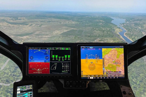 Joby's real aircraft has flown over 1000 flights. The simulator shown here is flying over the DC region. (Photo: Business Wire)