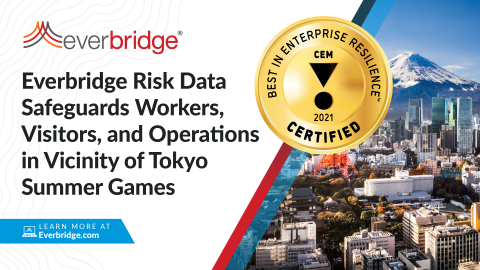 In Support of the International Summer Games in Tokyo, Everbridge Launches New Risk Data Intelligence Feed to Safeguard Visitors, Business Operations, and Traveling Workers (Graphic: Business Wire)
