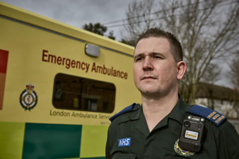 The National Health Service (NHS) England has selected Motorola Solutions' VB400 body-worn video solution to increase transparency and safety for its frontline workers and citizens across the country. (Photo: Business Wire)