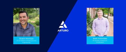 Dustin Montoya & Brett Antonides, Arturo's vice president of platform infrastructure and engineering and vice president of apps, analytics and visualization (Photo: Business Wire)