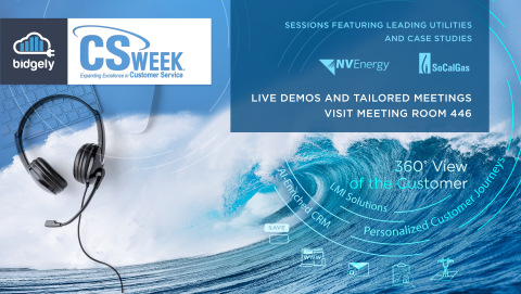 Bidgely, alongside customers like NV Energy and Southern California Gas, will demonstrate how to empower CSR teams through AI techniques that are proven to elevate customer satisfaction and engagement at CS Week 2021. (Graphic: Business Wire)
