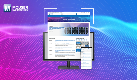 Mouser's new mobile-friendly Newsroom offers the latest Mouser news, announcements and media resources. (Photo: Business Wire)