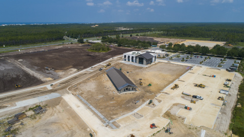 Construction and site work progressing at Watersound Town Center. (Photo: Business Wire)