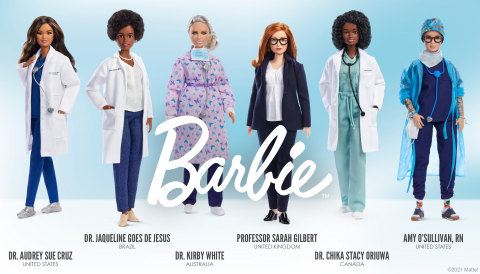 The brand is spotlighting six women who are modern real-life heroes of the pandemic and honoring them with their own one-of-a-kind doll made in their likeness (Photo: Business Wire)