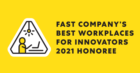 Asana was recognized by Fast Company for fostering a culture of inclusive innovation by crowdsourcing, planning and executing some of the most significant product enhancements from across the organization, all within the Asana platform. (Graphic: Business Wire)