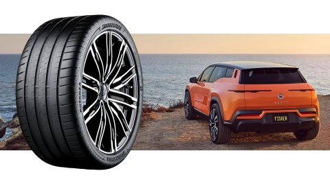 The custom-engineered Bridgestone tires will be available in two tire sizes: 255/50 R20 & 255/45 R22.  Fisker Inc., passionate creator of the world's most sustainable electric vehicles and advanced mobility solutions, and Bridgestone, a global leader in tires and rubber providing solutions for safe and sustainable mobility, are today announcing a new partnership. Fisker has selected Bridgestone as the exclusive tire partner for the much-anticipated Fisker Ocean all-electric SUV. (Photo: Business Wire)