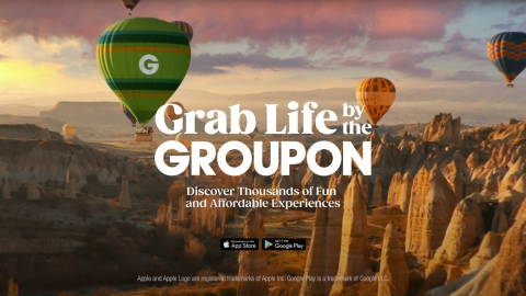 Groupon, the go-to destination for local experiences, is encouraging people to get out and Grab Life by the Groupon. The company's new brand campaign brings Groupon's expanded inventory and reimagined user experience to the forefront and showcases the thousands of fun and affordable experiences that people can do in their local communities. (Photo: Business Wire)