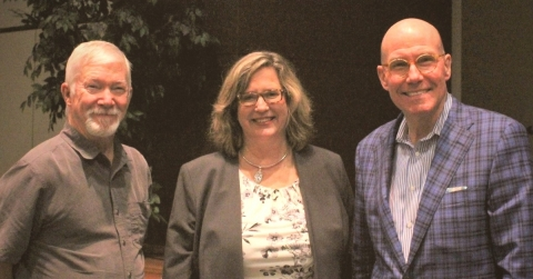 Mary Beck (C), pictured with Mel Taylor (L) and Dean Quinn (R). (Photo: The Council on Recovery)