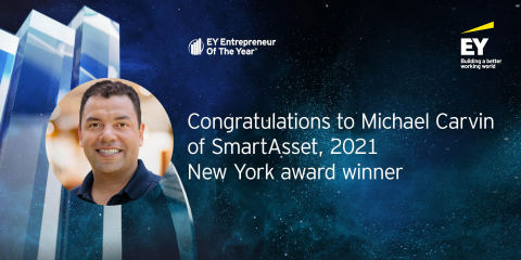 Michael Carvin, SmartAsset's Co-Founder & CEO, named EY Entrepreneur Of The Year® 2021 New York award winner. (Photo: Business Wire)