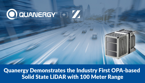 Quanergy Demonstrates the Industry First OPA-based Solid State LiDAR with 100 Meter Range (Photo: Business Wire)