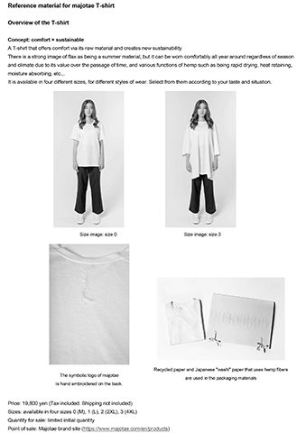 Reference material for majotae T-shirt