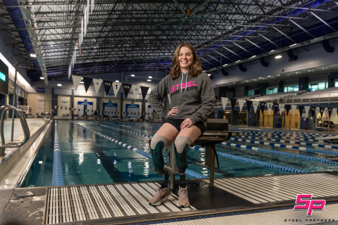 Steel Partners announces a partnership with Morgan Stickney, a champion swimmer headed for the 2021 Paralympics in Tokyo. (Photo: Business Wire)
