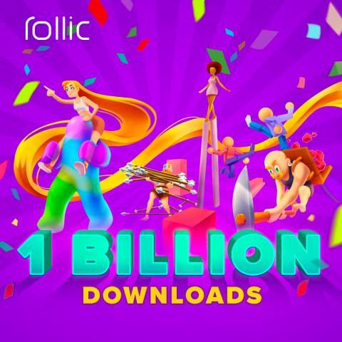 Rollic Surpasses 1 Billion Total Downloads Worldwide