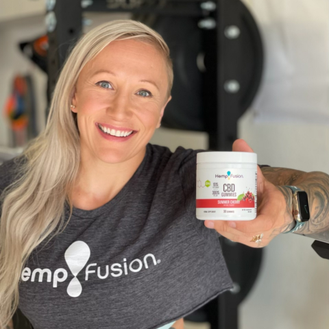 """""""HempFusion's new CBD gummies not only taste great, they give me the support I need to train hard and recover every day,"""